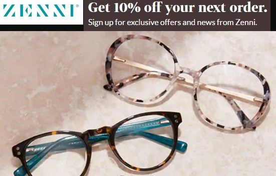 zenni optical email sign up discount