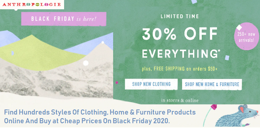 Anthropologie Black Friday Deals