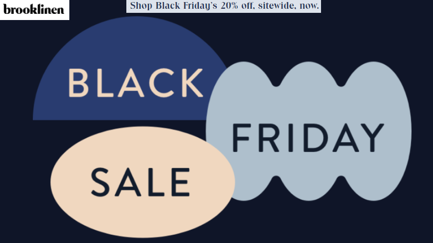 Brooklinen Black Friday Sale