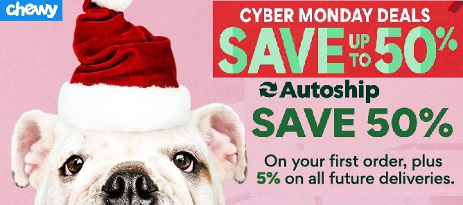 Chewy Cyber Monday Sale 2020