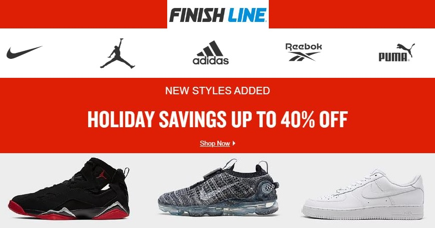 Finish Line Holiday Christmas Sale