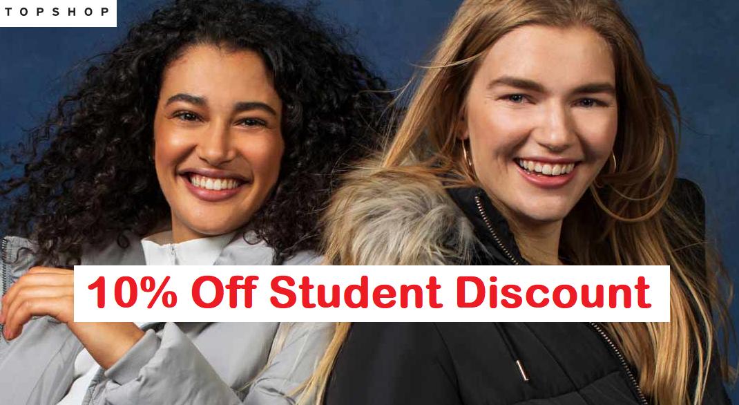 Topshop student discount code