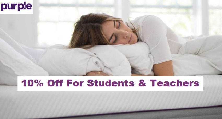 purple student and teacher discount