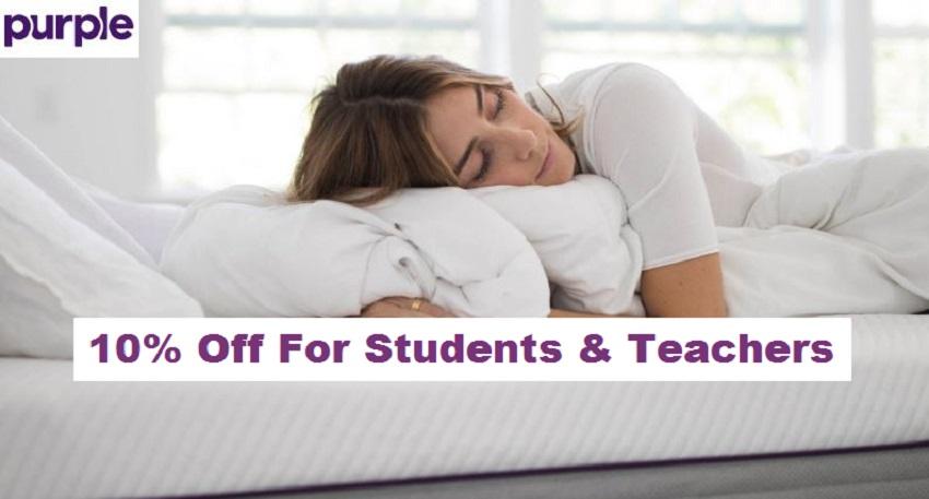 purple student and teacher discount
