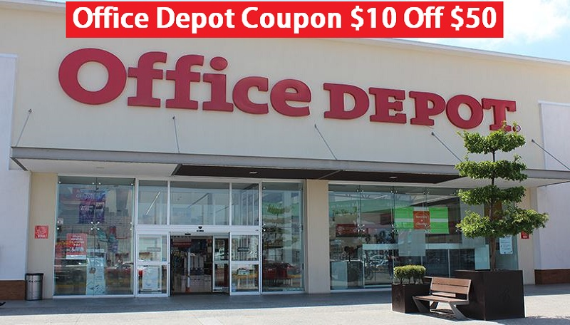 Office Depot Coupon $10 Off $50