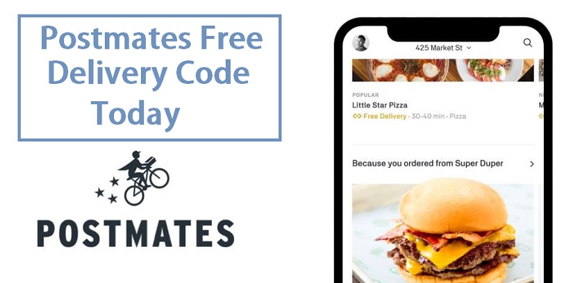 Postmates Free Delivery Code Today