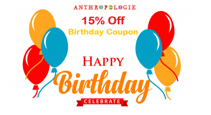 anthropologie birthday coupon
