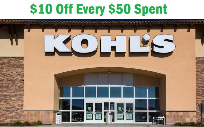 Kohls $10 Off $50