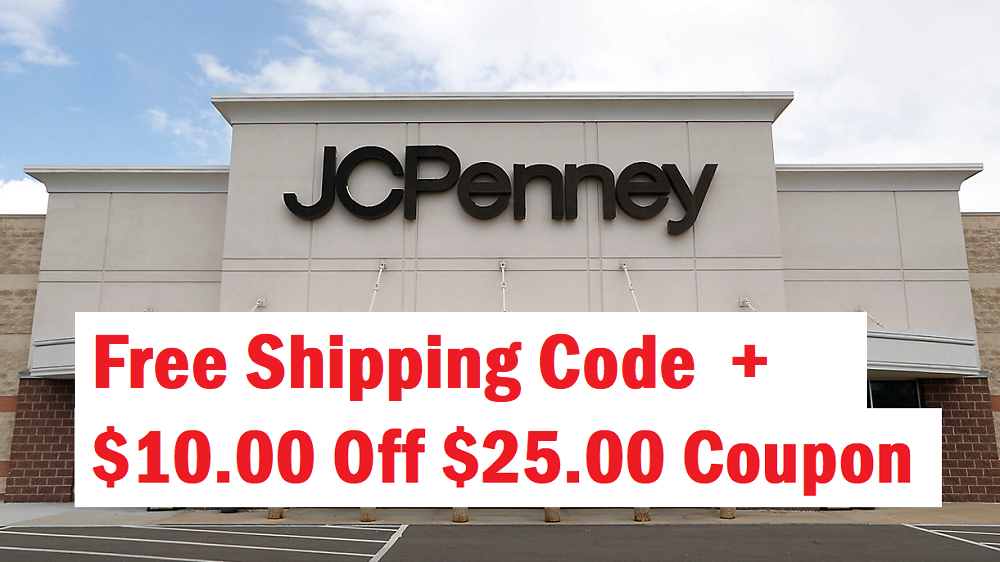 jcpenney free shipping code no minimum