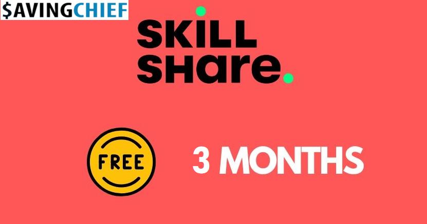 skillshare 3 months free